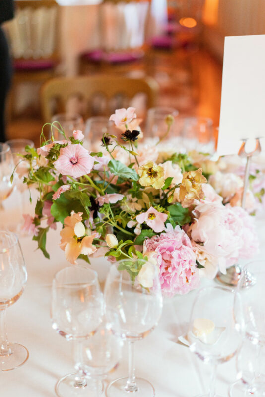 Wedding Centrepieces at Strawberry Hill House