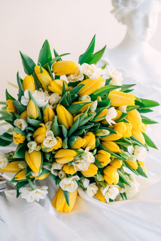 Yellow Tulips and Daffodils Bouquet