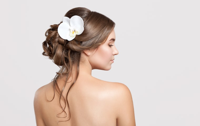 30 stunning ways to wear wedding hair flowers the elegance of orchids min