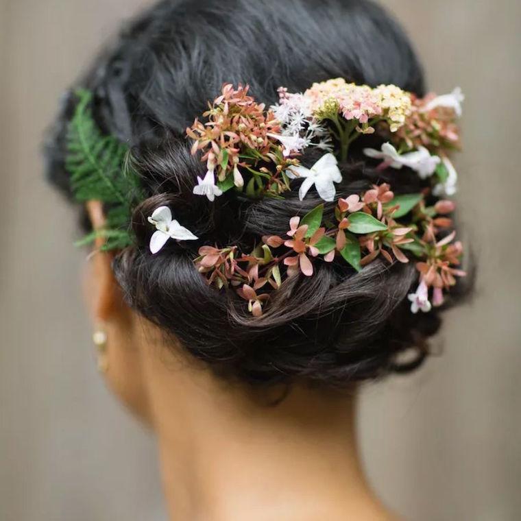 30 stunning ways to wear wedding hair flowers updo flower weave min