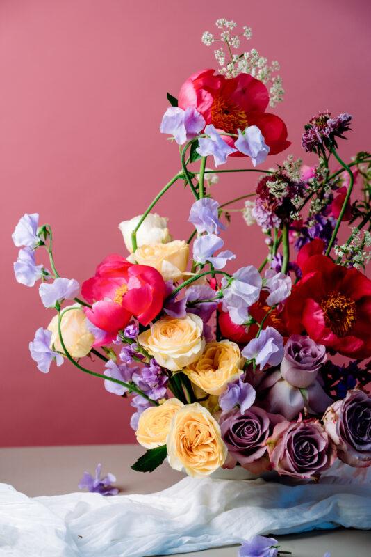 Sweet Pea In a Flower Arrangement