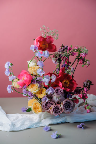 Colourful floral arrangement by Blooming Haus