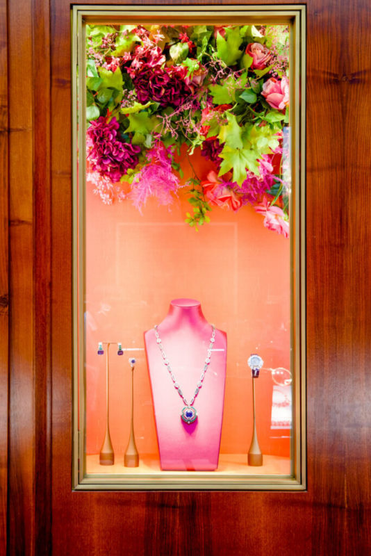 floral design in retail hospitality hanging florals
