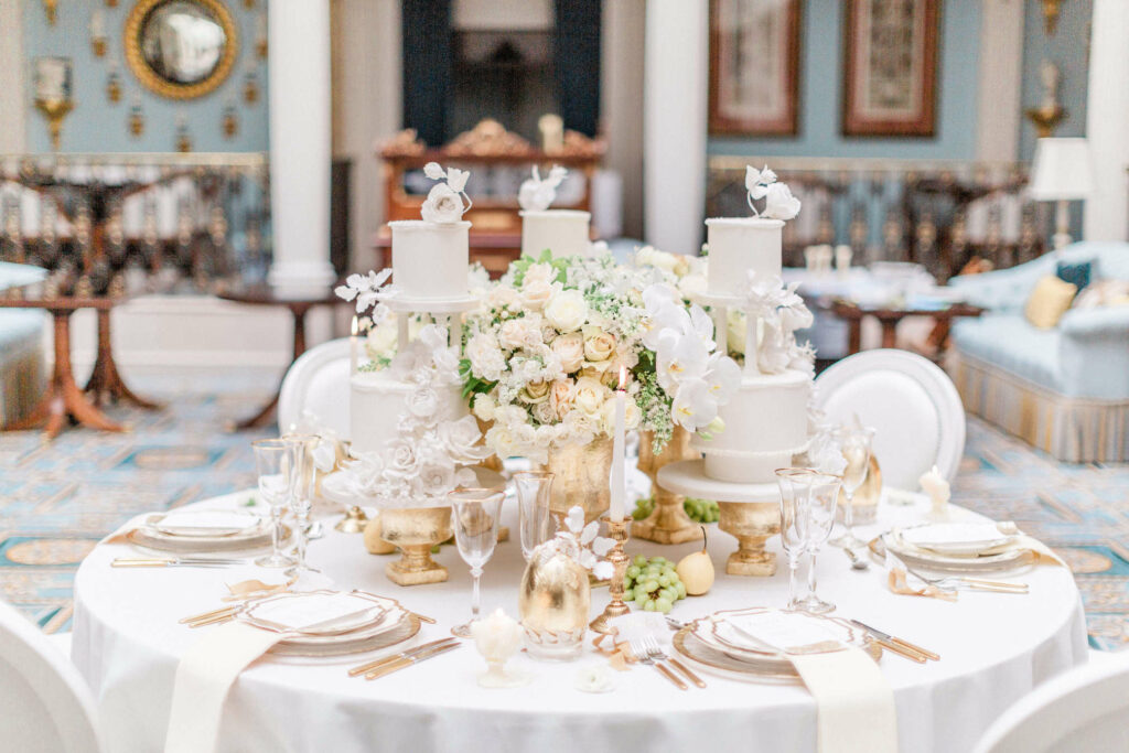 floral design in retail hospitality white luxury table flowers