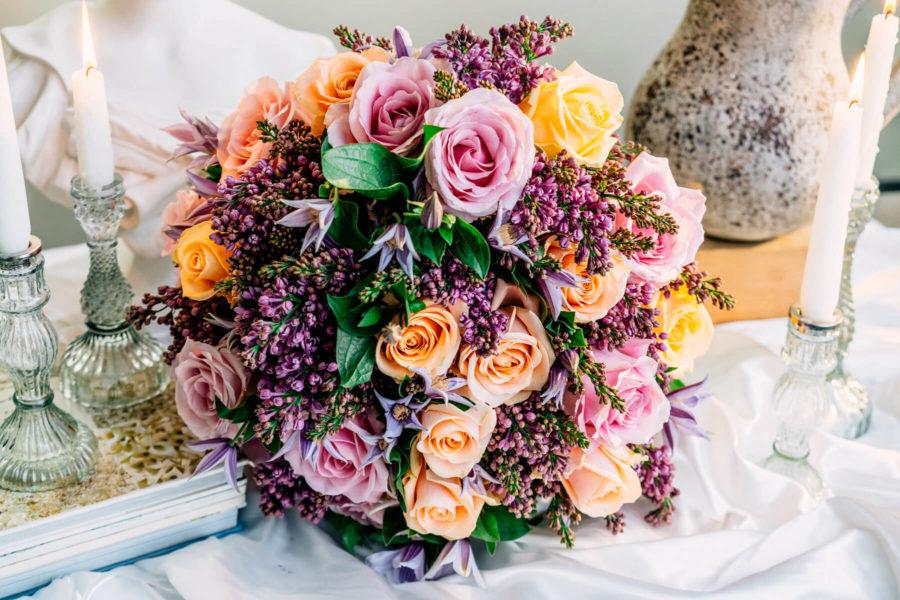 Lilac Peach Bouquet