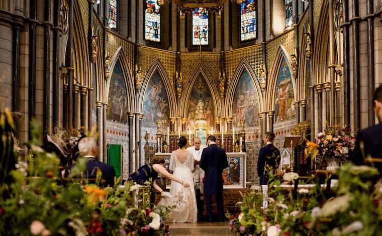 micro wedding church floral meadows in london