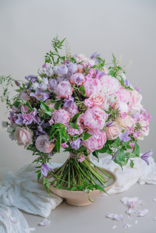 Peony and jasmine bouquet. Blooming Haus, Flowers London