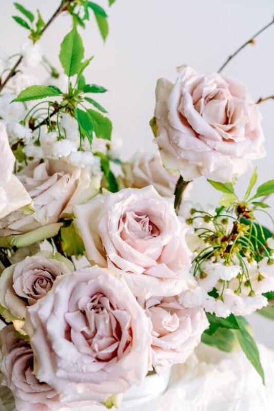 Rose arrangement by Blooming Haus London florist