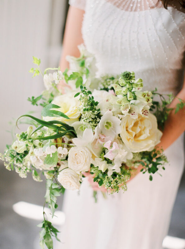 Wedding Bouquet at Hedsor House, white and ivory